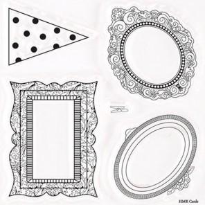 Маленькие рамки Bellissima Набор штампов для скрапбукинга, кардмейкинга Docrafts