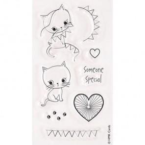 Кто-то особенный Little Meow Набор штампов для скрапбукинга, кардмейкинга Docrafts