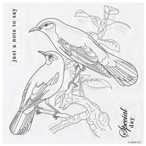 Птицы Nature's Gallery Набор штампов для скрапбукинга, кардмейкинга Docrafts
