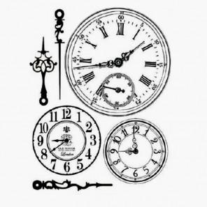 Часы Штампы на резиновой основе для скрапбукинга, кардмейкинга Stamperia