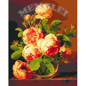 Аромат роз Раскраска по номерам на холсте Menglei