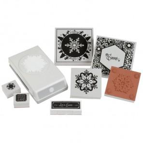Снежинка Набор штампов и дырокол для скрапбукинга, кардмейкинга EK Success