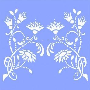 Королевские цветы Трафарет 33х33 см Marabu