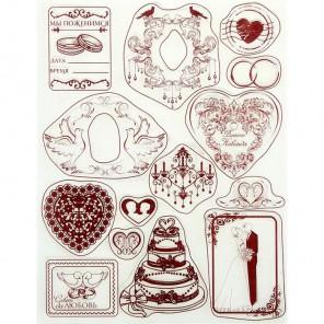 Свадьба Набор прозрачных штампов для скрапбукинга, кардмейкинга Арт Узор