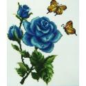 Синие розы  в саду Алмазная вышивка (мозаика) Sophiebeauty