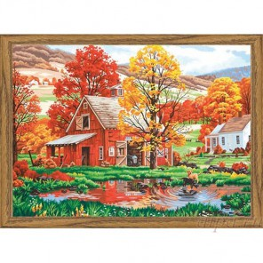 Друзья осени Раскраска (картина) по номерам акриловыми красками Dimensions