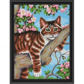 Ленивый кот Раскраска (картина) по номерам акриловыми красками Dimensions