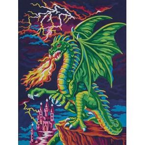 Логово дракона Раскраска (картина) по номерам акриловыми красками Dimensions
