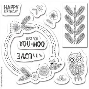 Пожелания Owl Folk Штампы для скрапбукинга, кардмейкинга Docrafts