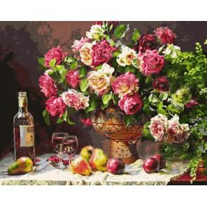 Натюрморт с розами Алмазная вышивка (мозаика) Color Kit
