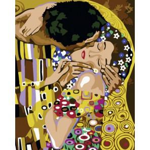Поцелуй, Густав Климт Алмазная вышивка (мозаика) на подрамнике Color Kit