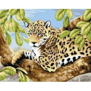 Леопард на ветвях Алмазная вышивка (мозаика) на подрамнике Color Kit