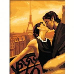 Поцелуй в Париже Алмазная частичная вышивка (мозаика) на подрамнике Color Kit