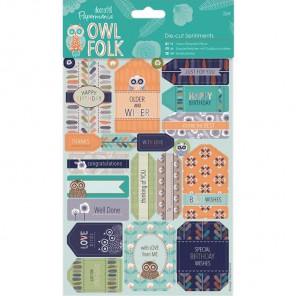 Пожелания Owl Folk Набор высеченных элементов для скрапбукинга, кардмейкинга Docrafts