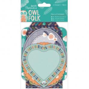 Owl Folk Набор высеченных элементов для скрапбукинга, кардмейкинга Docrafts