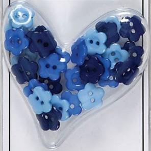 Цветы Набор мини-пуговиц Burleigh Blue Docrafts
