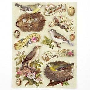Птицы и Листья Стикеры для скрапбукинга, кардмейкинга K&Company