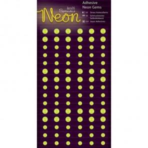 Neon Yellow Полубусинки декоративные самоклеющиеся элементы Docrafts