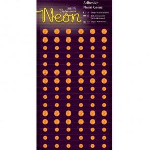 Neon Orange Полубусинки декоративные самоклеющиеся элементы Docrafts