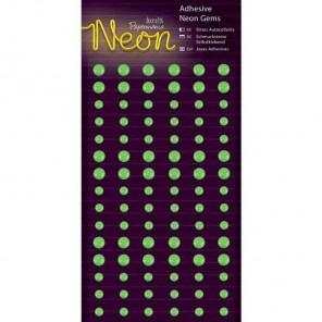 Neon Green Полубусинки декоративные самоклеющиеся элементы Docrafts