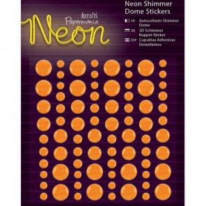 Neon Orange Декоративные самоклеющиеся элементы Docrafts