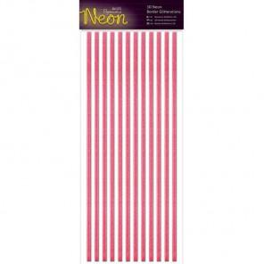 Neon Pink Полоски бордюры для скрапбукинга, кардмейкинга Docrafts