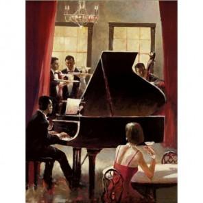 Музыка (репродукция Брент Хейтона) Раскраска по номерам акриловыми красками на холсте Живопись по номерам