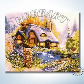 Пасторальный домик Раскраска по номерам на холсте Hobbart