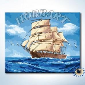 На всех парусах Раскраска по номерам акриловыми красками на холсте Hobbart