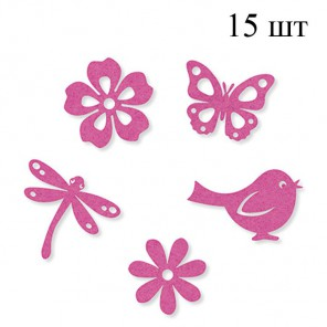 Лето розовое Набор из фетра декоративные элементы для скрапбукинга, кардмейкинга Efco