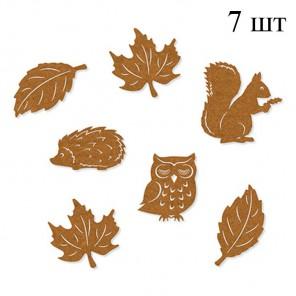 Лесные обитатели коричневые Набор из фетра декоративные элементы для скрапбукинга, кардмейкинга Efco