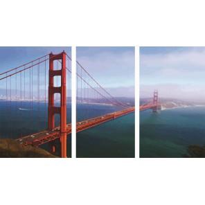Мост Золотые ворота Триптих Раскраска по номерам акриловыми красками на холсте Color Kit