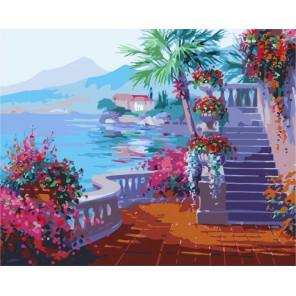 Романтика озеро Комо ( художник Микки Сенкарик ) Раскраска (картина) по номерам акриловыми красками на холсте Menglei