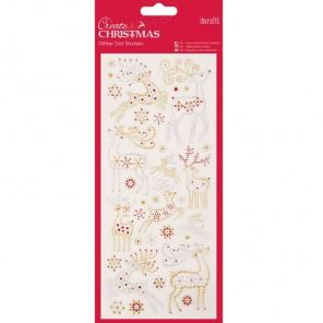 Северные олени Create Christmas Стикеры для скрапбукинга, кардмейкинга Docrafts