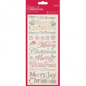 Merry Christmas Create Christmas Стикеры для скрапбукинга, кардмейкинга Docrafts