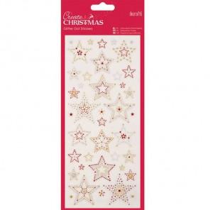 Звезды Create Christmas Стикеры для скрапбукинга, кардмейкинга Docrafts