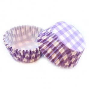 Клетка фиолетовая Набор бумажных форм для кексов Dolce Arti