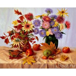 Осенние цветы (художник Аркадий Зражевский) Раскраска (картина) по номерам на холсте Molly