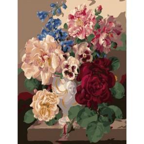 Букет в интерьере Раскраска (картина) по номерам акриловыми красками на холсте