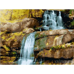 Водопад Раскраска (картина) по номерам акриловыми красками на холсте