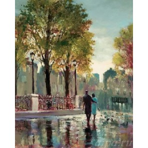 После дождя ( художник Брент Хейтон ) Раскраска ( картина ) по номерам акриловыми красками на холсте Iteso
