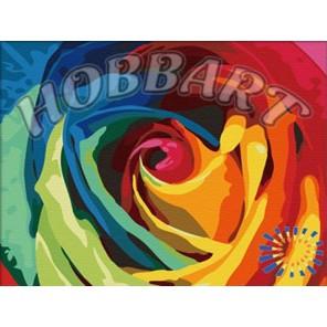 Радуга роз Раскраска по номерам акриловыми красками на холсте Hobbart