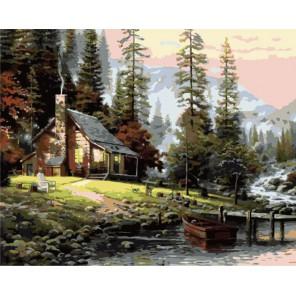 Дом Азурегоса Раскраска (картина) по номерам акриловыми красками на холсте Menglei
