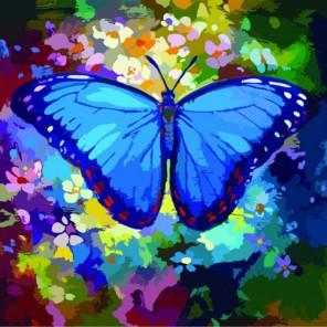 Голубая симфония Раскраска по номерам акриловыми красками на холсте Color Kit