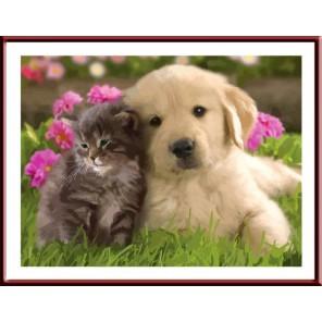 Милые друзья Раскраска по номерам акриловыми красками на холсте Color Kit