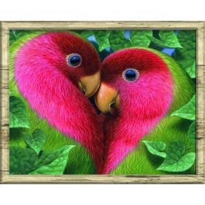 Любовь Алмазная частичная вышивка (мозаика) Color Kit