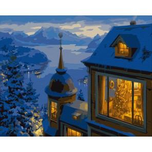 Ночь накануне Рождества Раскраска по номерам на холсте Color Kit