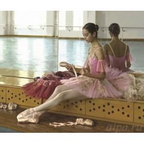 Балерина в розовом Раскраска по номерам акриловыми красками на холсте Color Kit