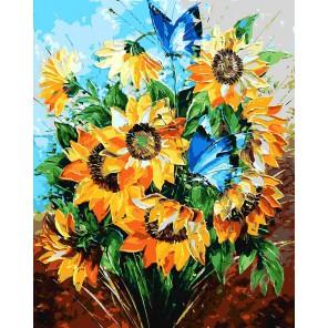 Летний букет Раскраска ( картина ) по номерам акриловыми красками на холсте Белоснежка