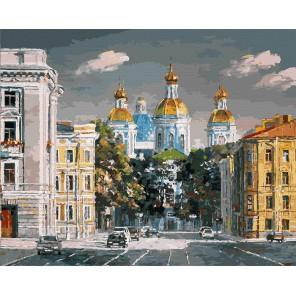 Театральная площадь Раскраска ( картина ) по номерам акриловыми красками на холсте Белоснежка